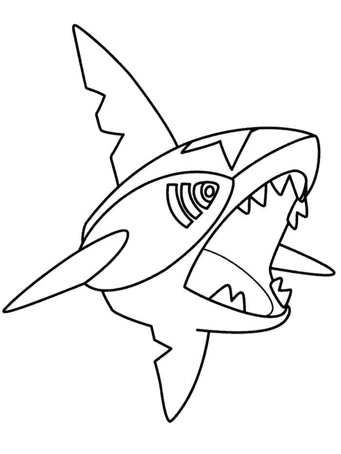 Sharpedo Pokemon Coloring Page | pokemon para colorear | Pinterest ...