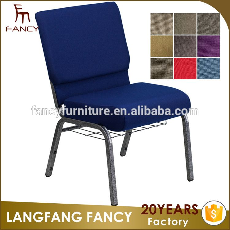 Attractive Quality Modern Free Church Pulpits Chair Blue Church Chairs Sale