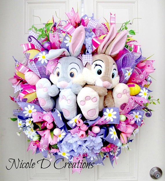 Easter Wreath -Deco Mesh Wreath- Front Door Wreaths- Spring Wreath ...