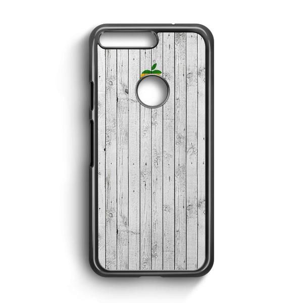 Apple Logo On White Wood Colorful Google Pixel XL 2 Case