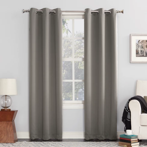 Kenneth Grommet Top Blackout Window Curtain Panels Sun Zero Grommet Curtains Panel Curtains Curtains