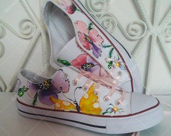 Photo of Hand painted shoes, clothes and accessories door DiqnaDesign