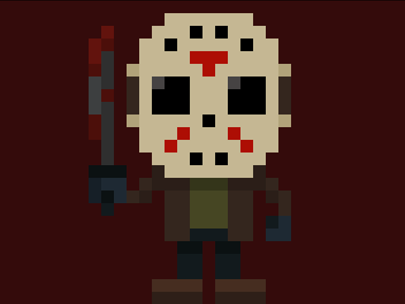 Famous Characters in Pixel Art