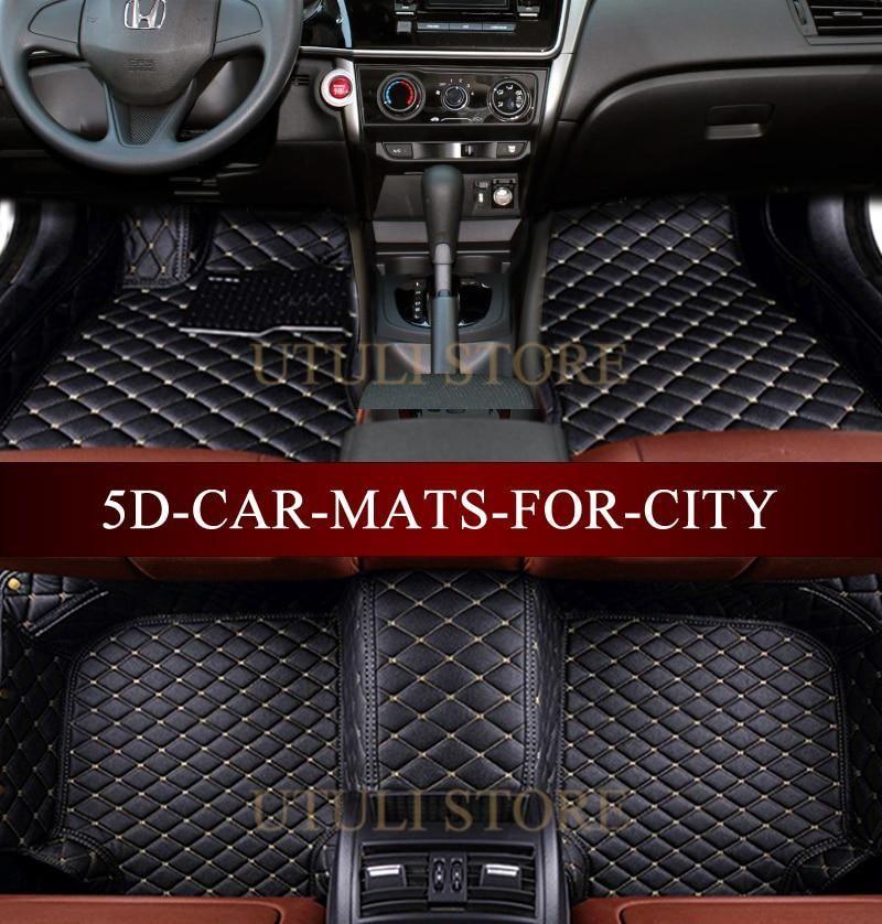 Leather Car floor mats for Honda City custom fit car all