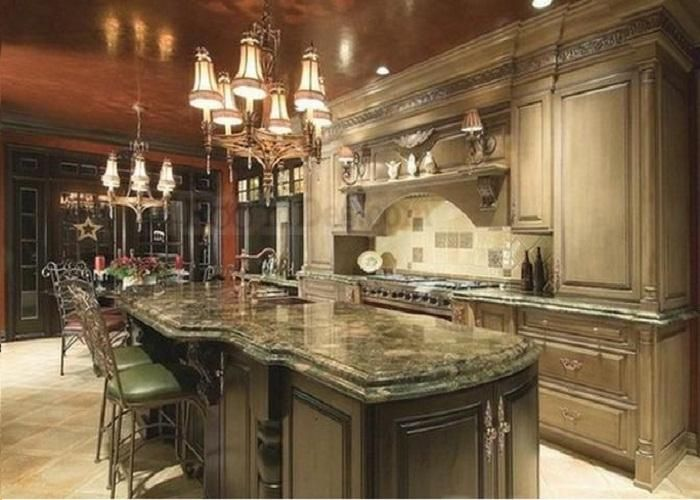 Luxury Kitchen Islands really like the raised panels on the fridge unit. also love the