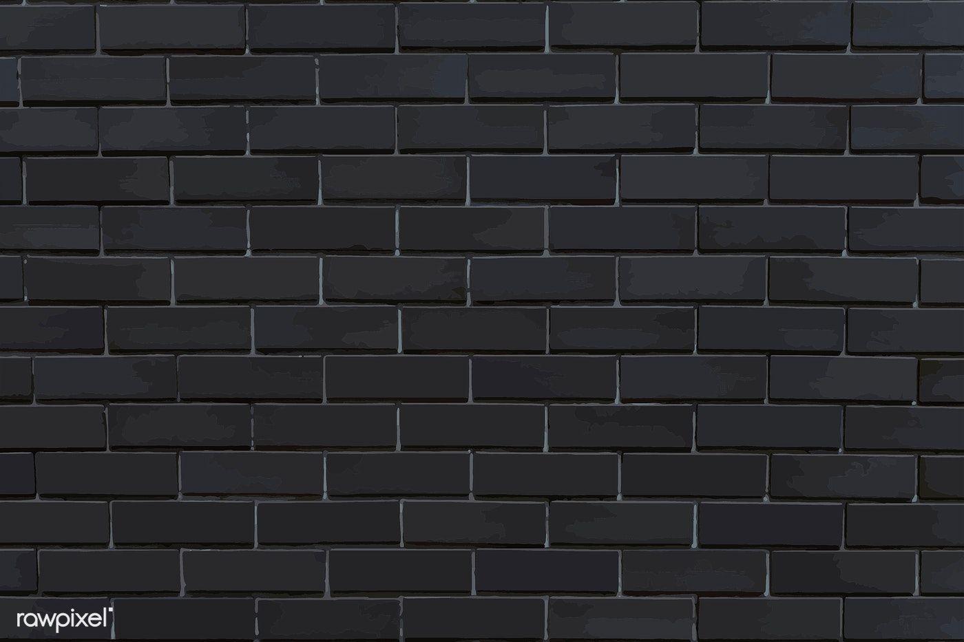 Dark Gray Brick Textured Background Vector Free Image By Rawpixel Com Niwat Brick Texture Texture Background Hd Textured Background