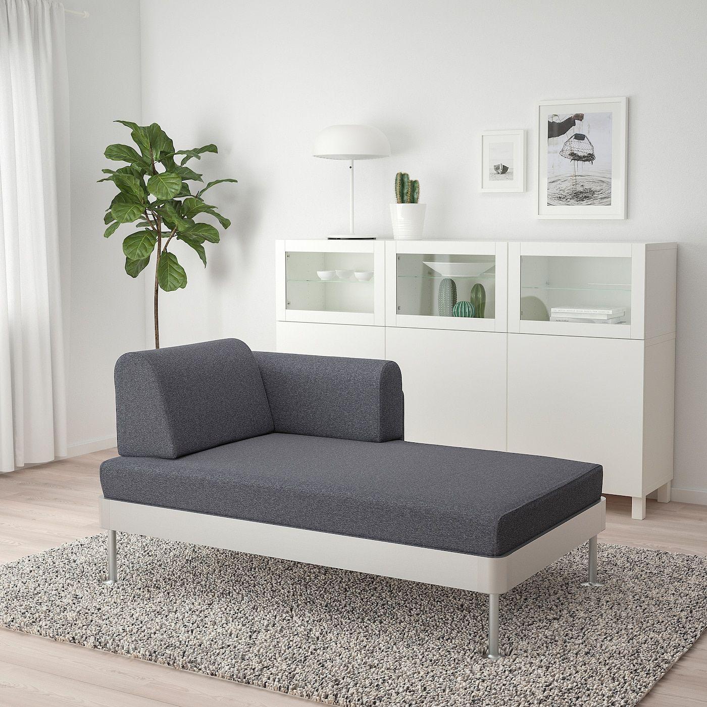 Divano Letto Con Secondo Letto Estraibile Ikea.Delaktig Chaise With Armrest Gunnared Medium Gray In 2020 Sofa