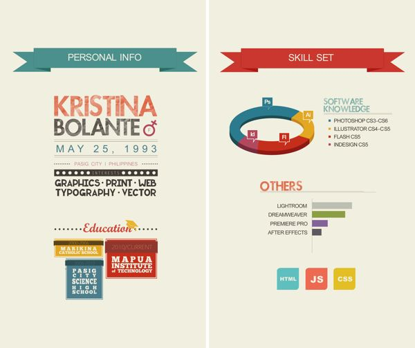 Conciso  Brandyourself    Behance Infographic Resume