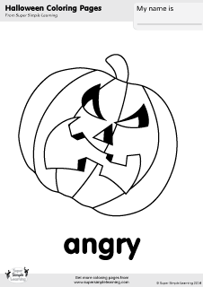 Free jack-o'-lantern coloring page from Super Simple