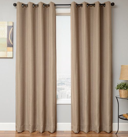 Textured Blackout Drapery Panel in Linen