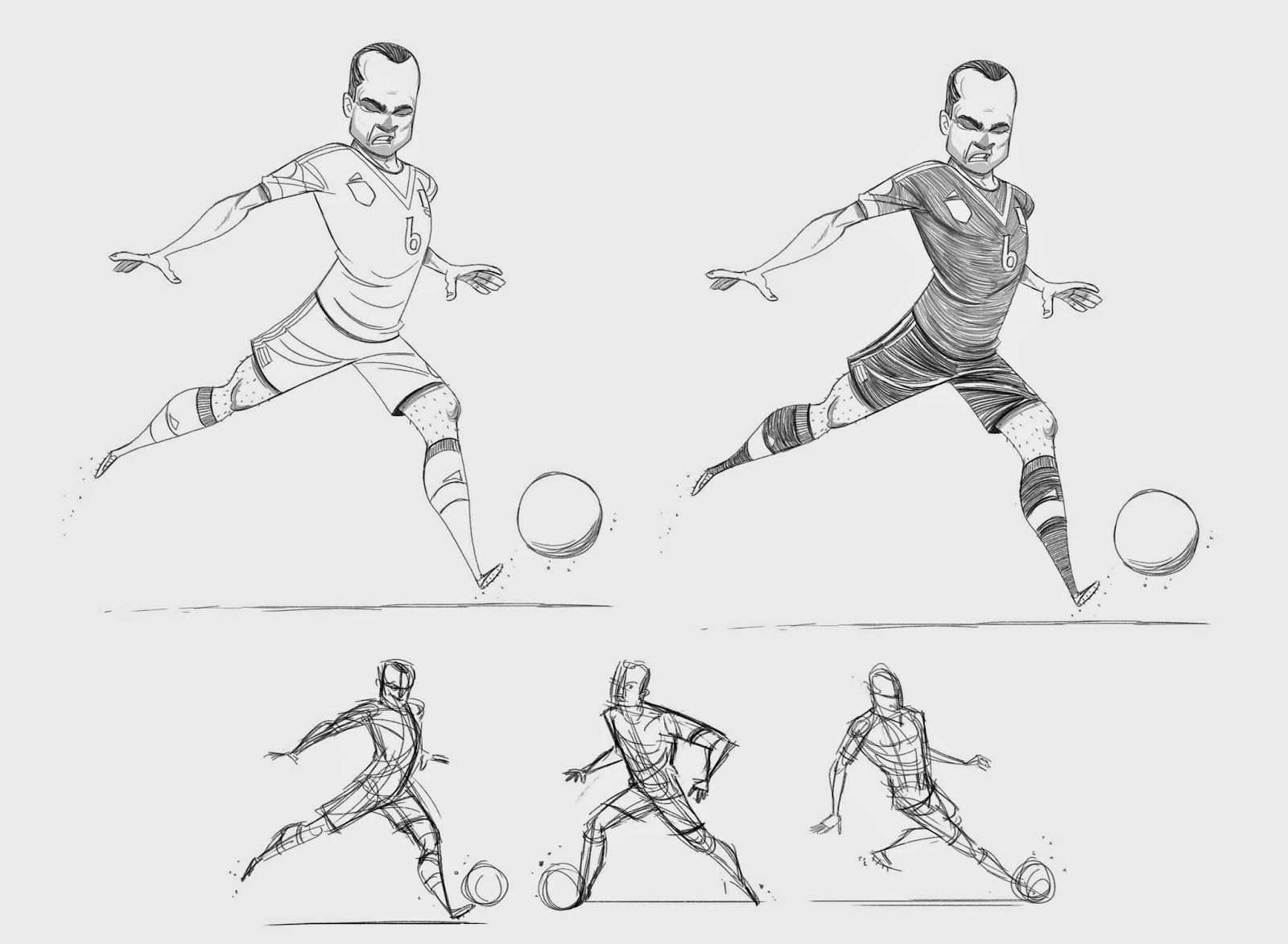 Espn U College Town Character Colors On Behance Football Poses Soccer Drawing Manga Poses
