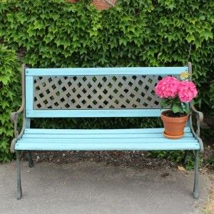 Upcycled Garden Bench Painted Benches Colorful Outdoor Furniture Garden Bench