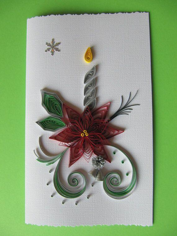 Weihnachtskarte Karte, Frohe Weihnachten, Handgemachte Grußkarte ...