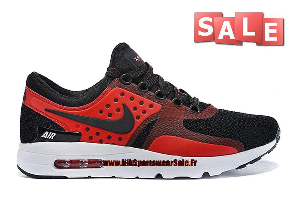 6973c9bdc98 Nike Air Max Zero - Chaussure Mixte Nike Sportswear Pas Cher (Taille Homme)  Noir