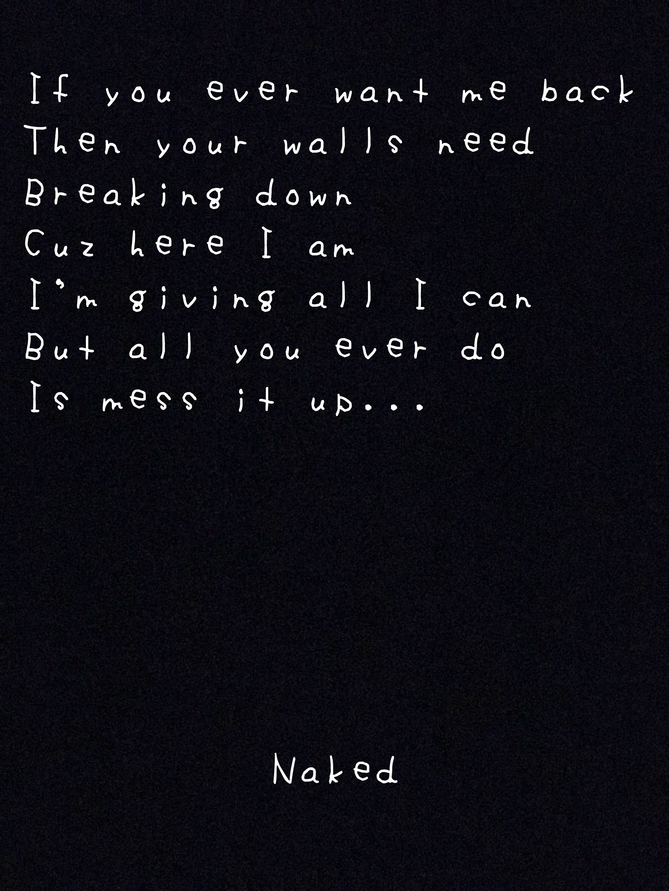 What shall just get naked lyric point