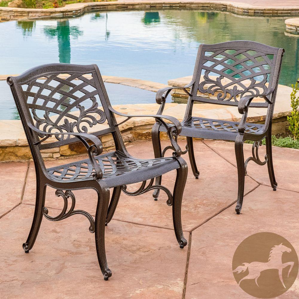 Patio Furniture Sarasota Florida: Sarasota Cast Aluminum Outdoor Chair By Christopher Knight
