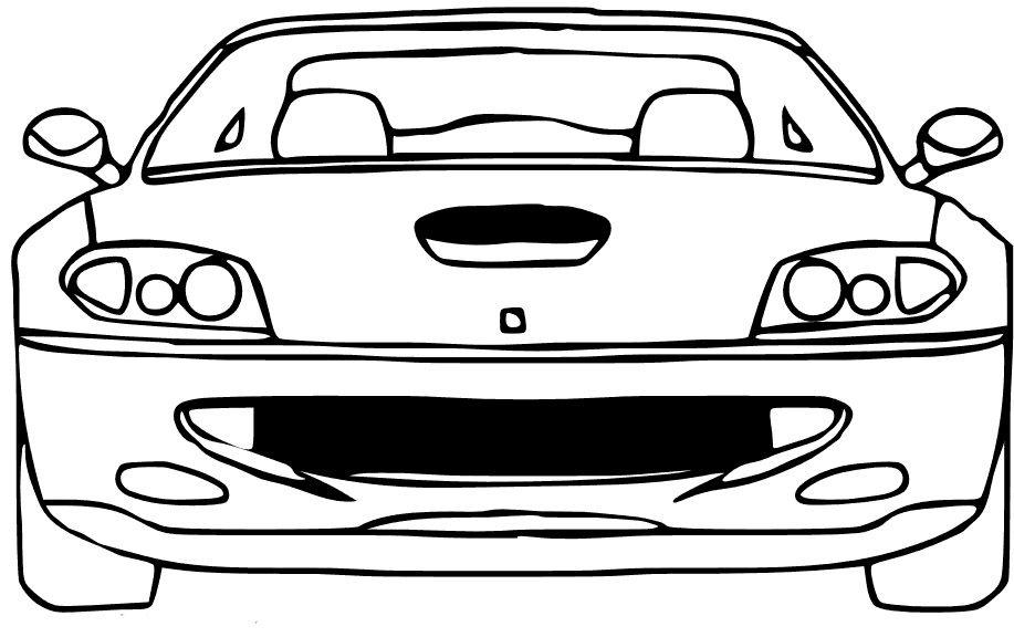Ferrari Maranelo 458 Coloring Page