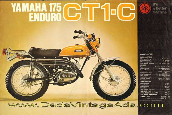cb5bedd73d13694d09b347f4612d9c94 1971 yamaha 175 enduro ct1 c original motorcycle brochure photos 1971 yamaha ct1 175 wiring diagram at crackthecode.co