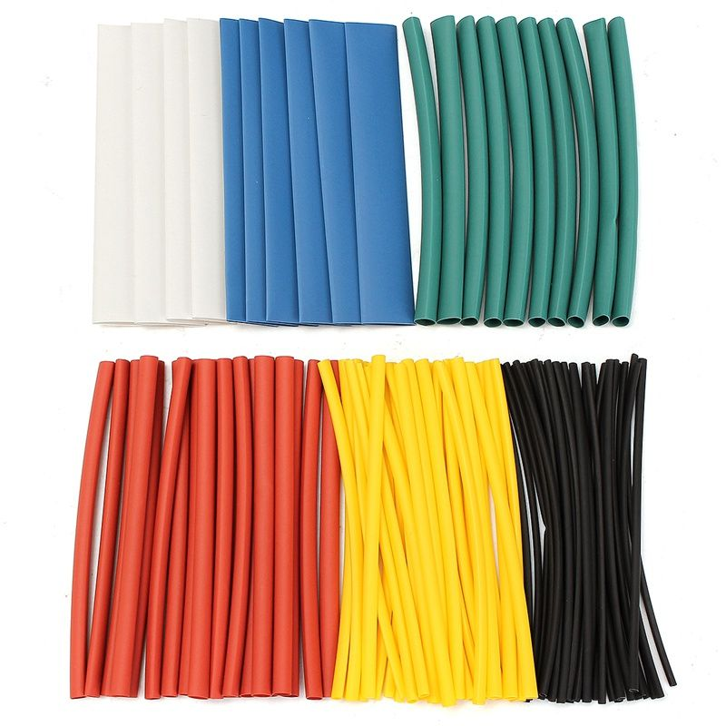 Kit Tubing Wire Heat Shrink Tube Wrap Sleeve Assorted Electrical Cable Tubes