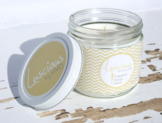 Luscious Handmade Soy Candle for your Eco Chic by ViVOSpaBoutique, $20.00