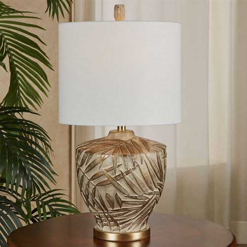 Nohea Brushed Gold Tropical Table Lamp In 2021 Tropical Table Lamps Table Lamp Gold Table Lamp