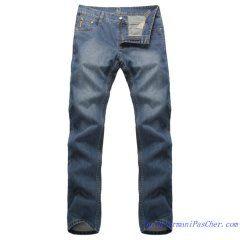 162e4f1ab26 Jeans Armani Homme en Denim Pas Cher Bleu Délavé