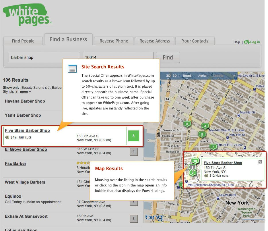 Powerlistings Live On Whitepages With Images Find People White Pages