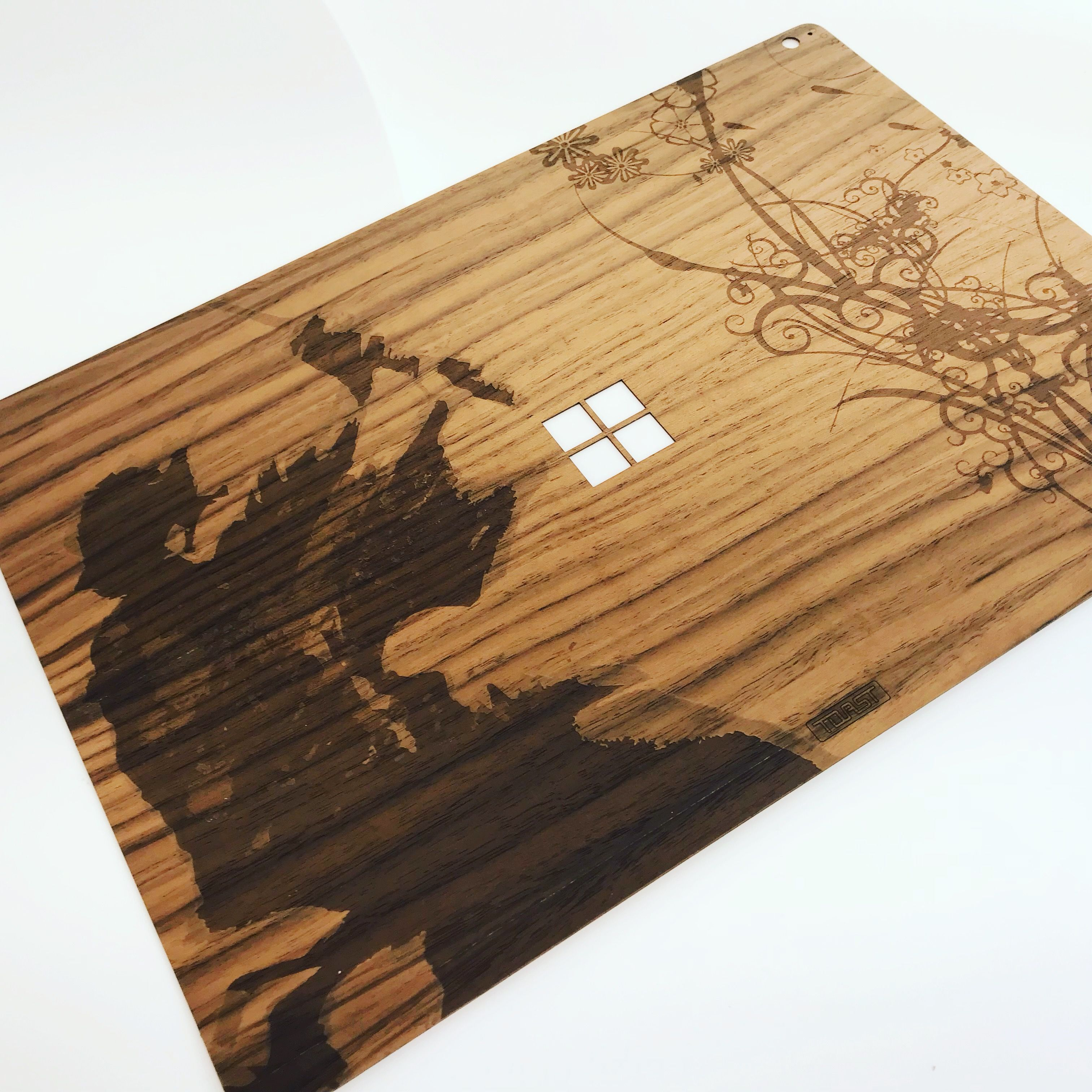 surface book book 2 wood cover custom cover of the day