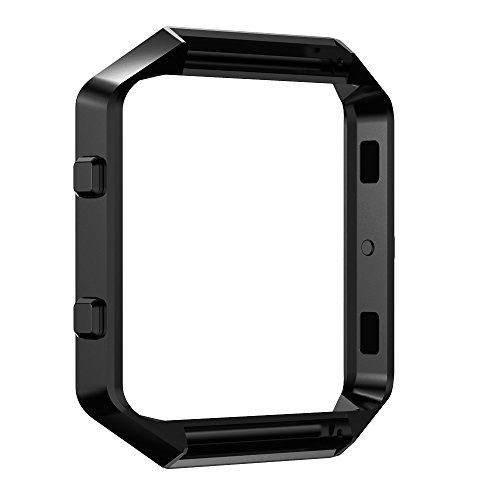 Pinhen Fitbit Blaze Accessory Frame Metal Stainless Steel Black *** Check out this great product.