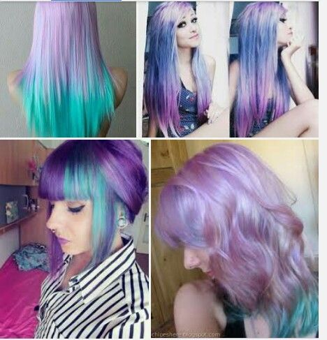 Pastel hairstyles