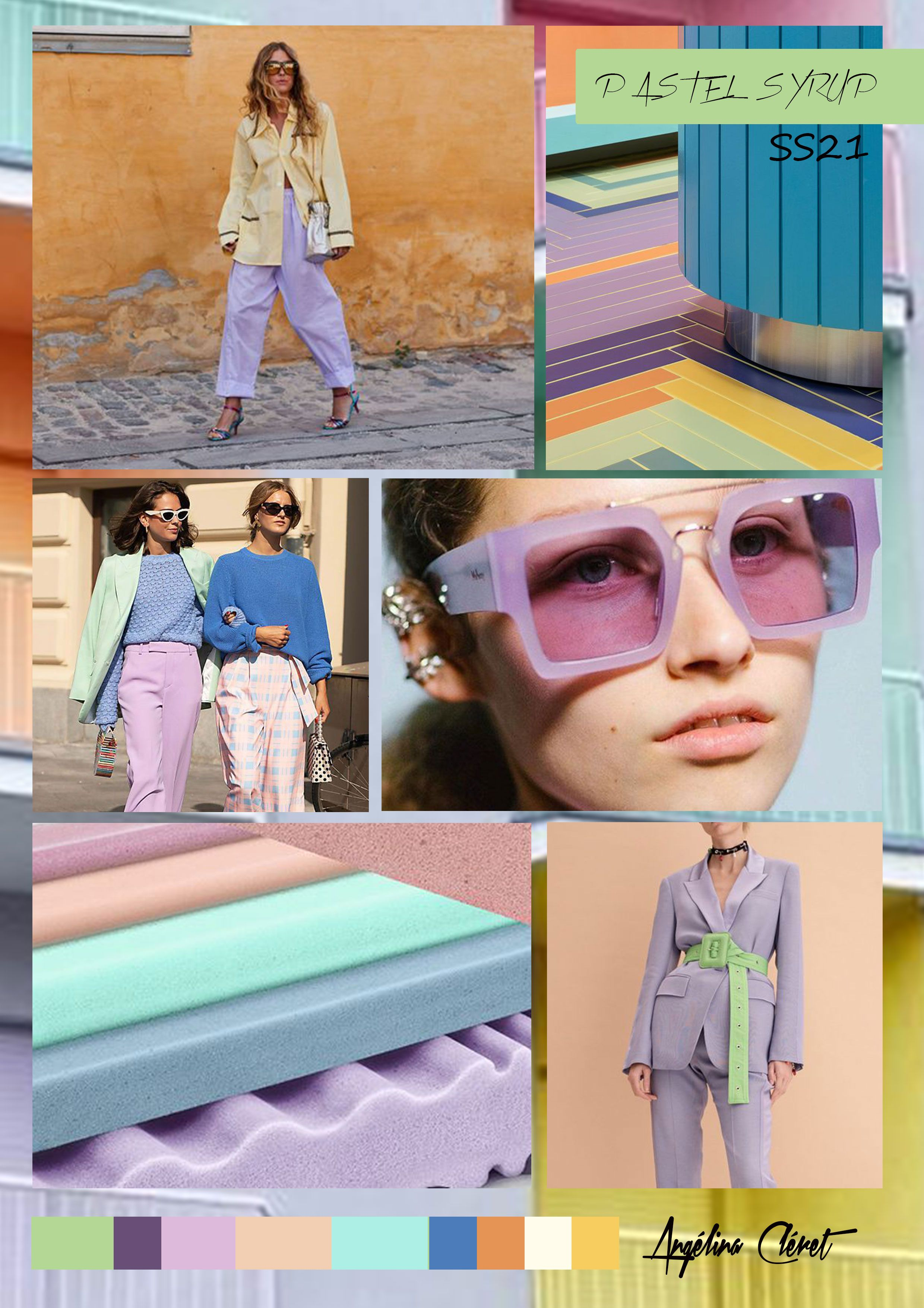 PASTEL SYRUP SS21 - Fashion & Colors Trend by Angélina Cléret