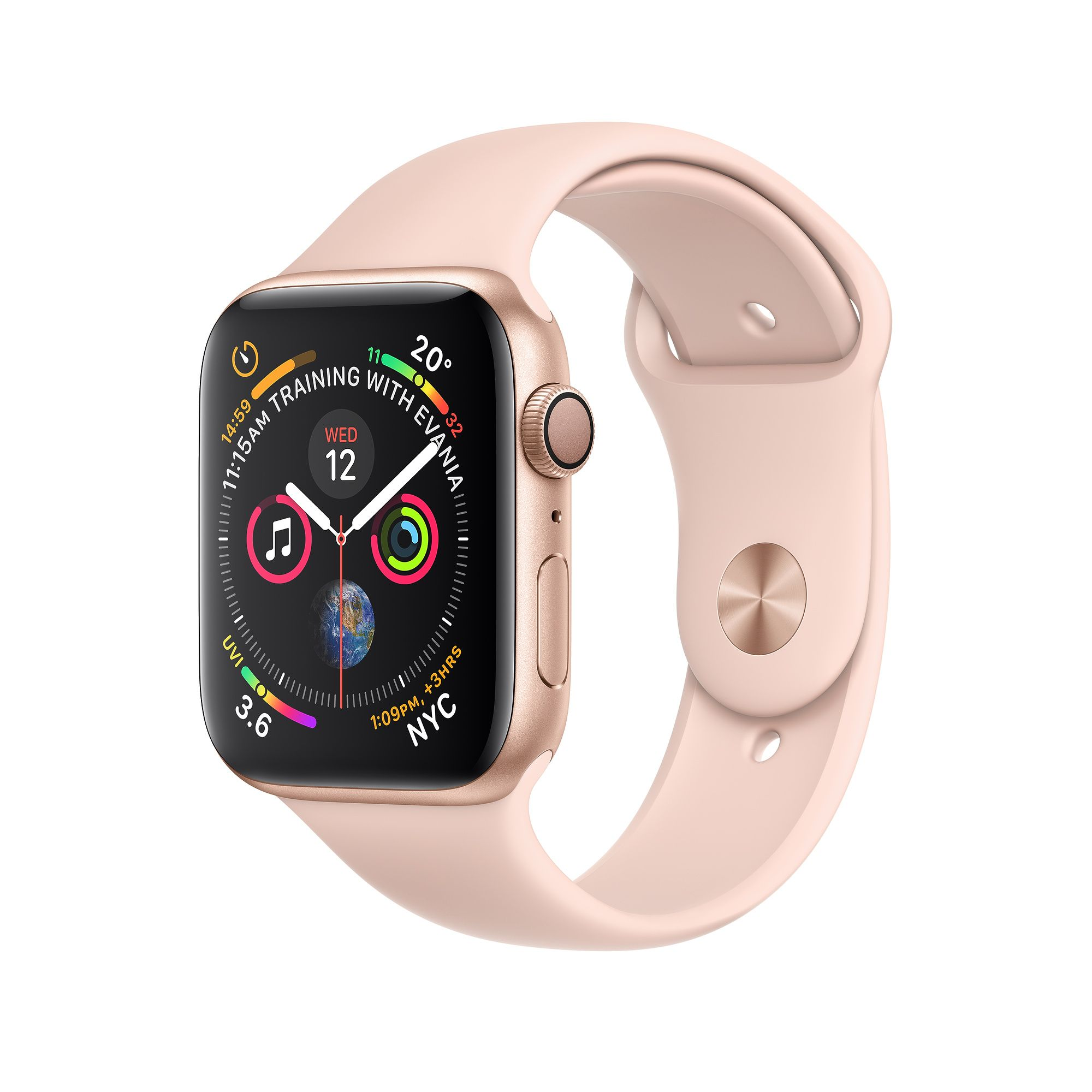 Apple Watch Gold Aluminium Case with Pink Sand Sport