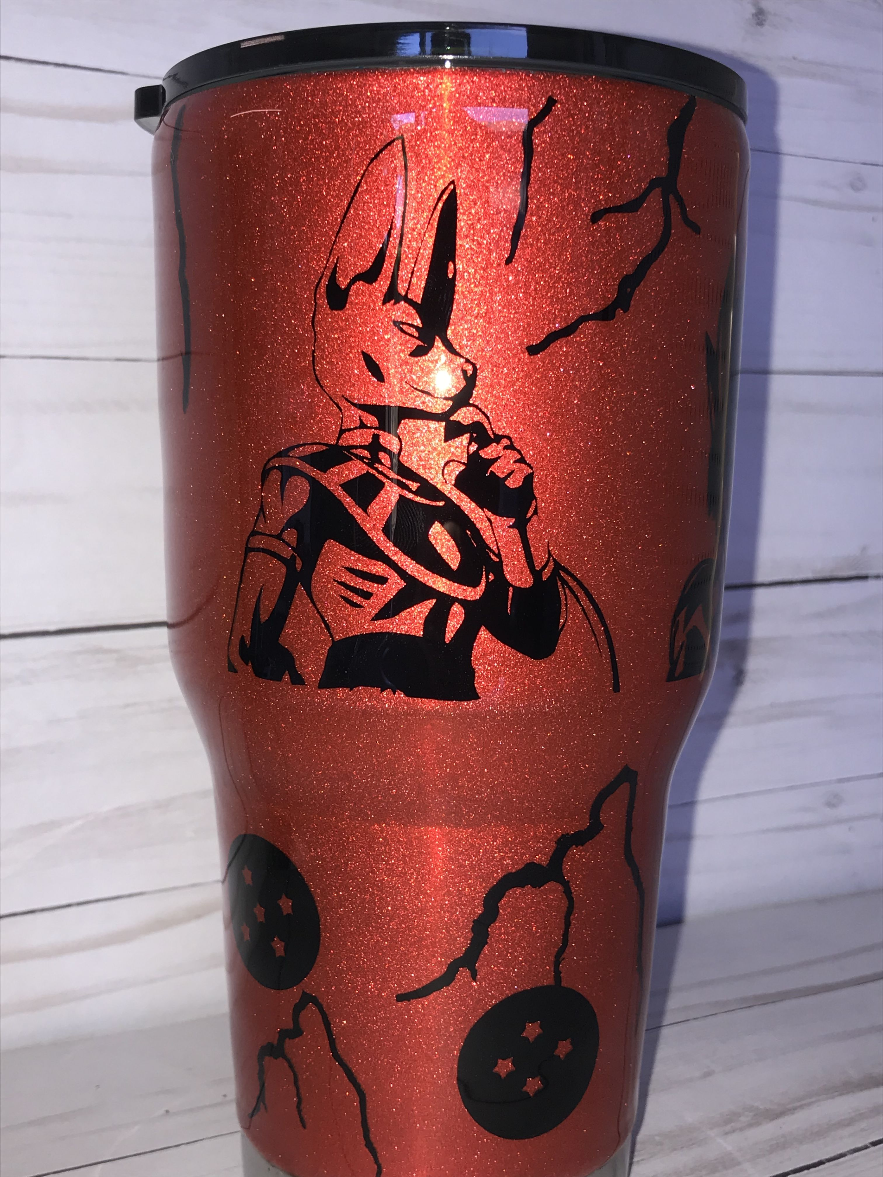 Dragon Ball Z Tumbler Sea D Designs Glitter Tumbler Dragon Ball Z Tumbler Cups