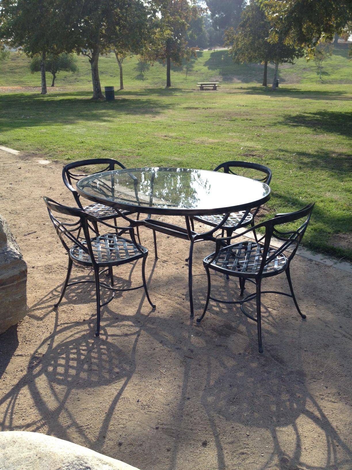 Vintage Brown Jordan Classic Ii 5 Pc Patio Set For Sale 1 450 00 Patio Plastic Patio Furniture Garden Recliners
