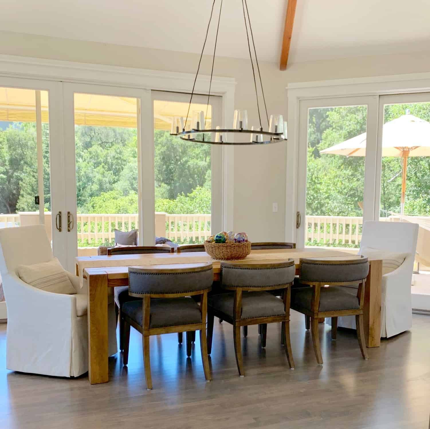 Beautiful Casual Dining Room: Living Dining Room Makeovers With Gorgeous Views Before