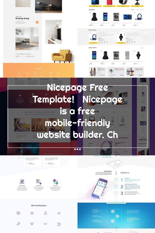 Nicepage Free Template! Nicepage is a free mobilefriendly