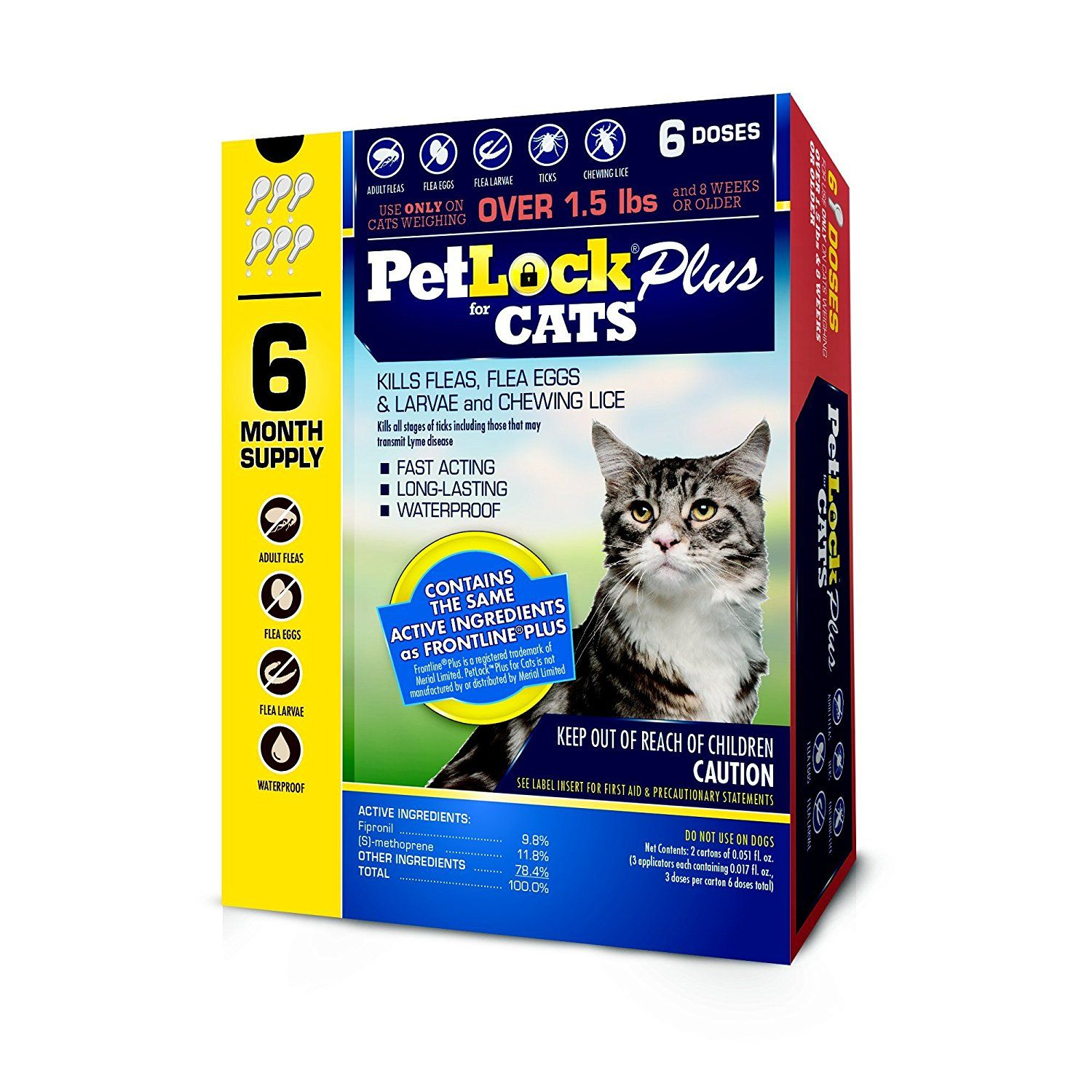Petlock Plus Flea And Tick Control For Cats 6 Month Supply Visit The Image Link More Details This Is An Af Tick Control Cat Fleas Frontline Plus For Cats