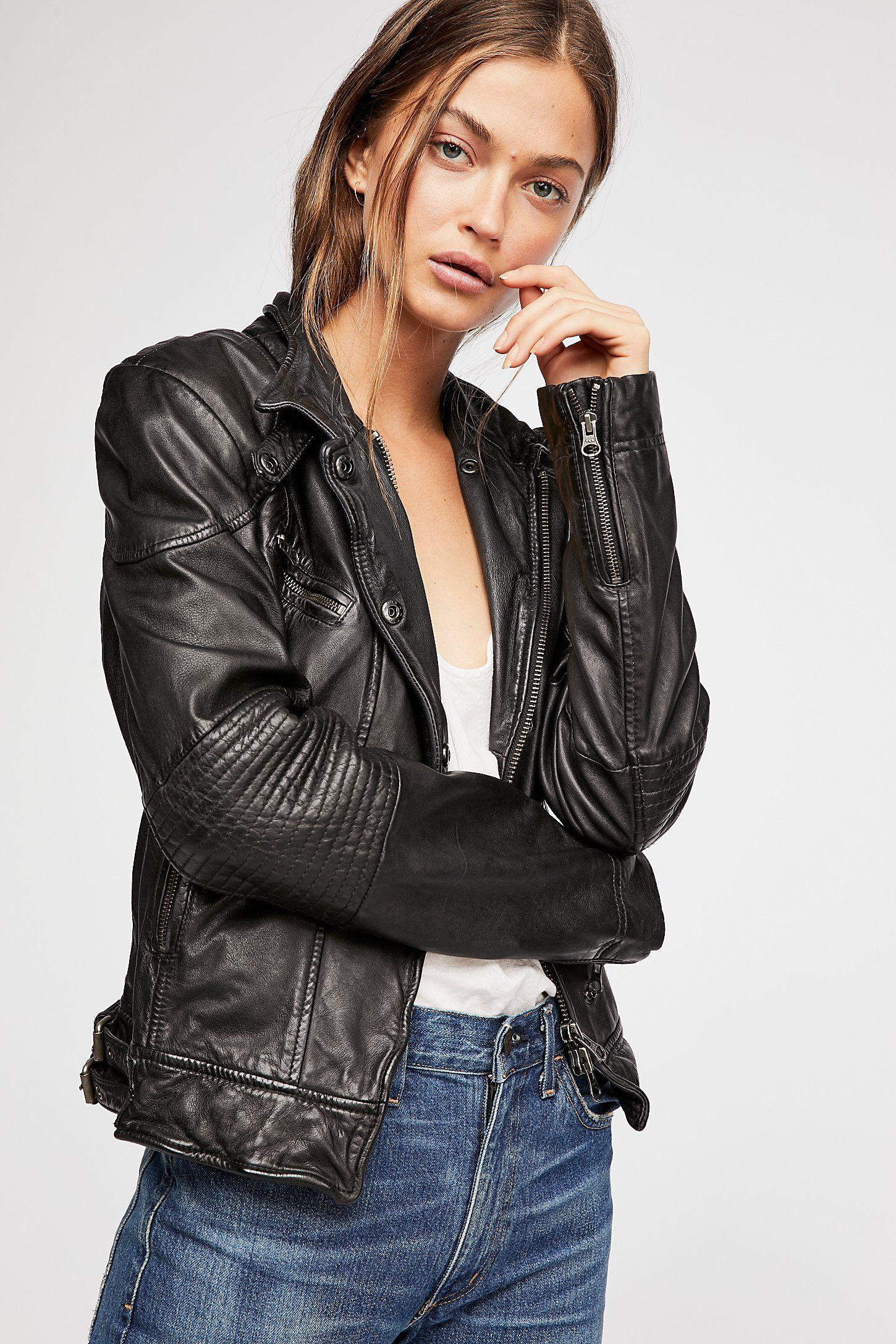 Fitted And Rugged Leather Jacket Leather Jacket Leather Jacket Girl Leather Jackets Women