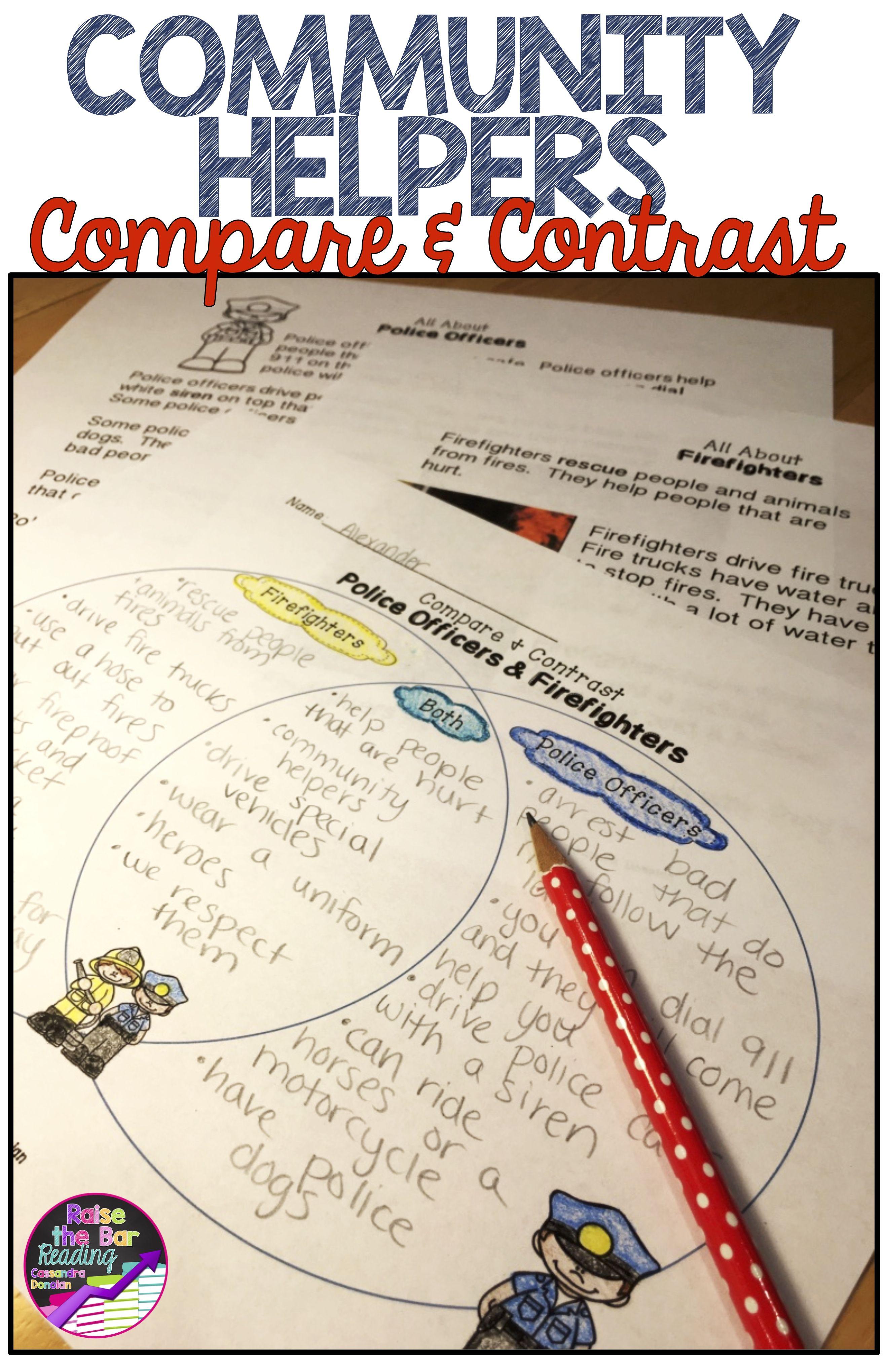 Community Helpers Reading Passages Compare Contrast Community Helpers Reading Passages Compare And Contrast [ 4080 x 2640 Pixel ]