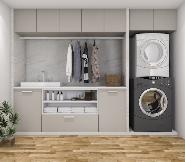 Photo of Hardware Resources Shares 6 Quick Tips for Organizing a Multipurpose  Laundry Room
