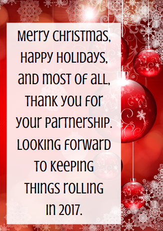 Business thank you messages examples for christmas christmas business thank you messages examples for christmas perfect for business associates partners and client christmas cards from paperdirect reheart Image collections