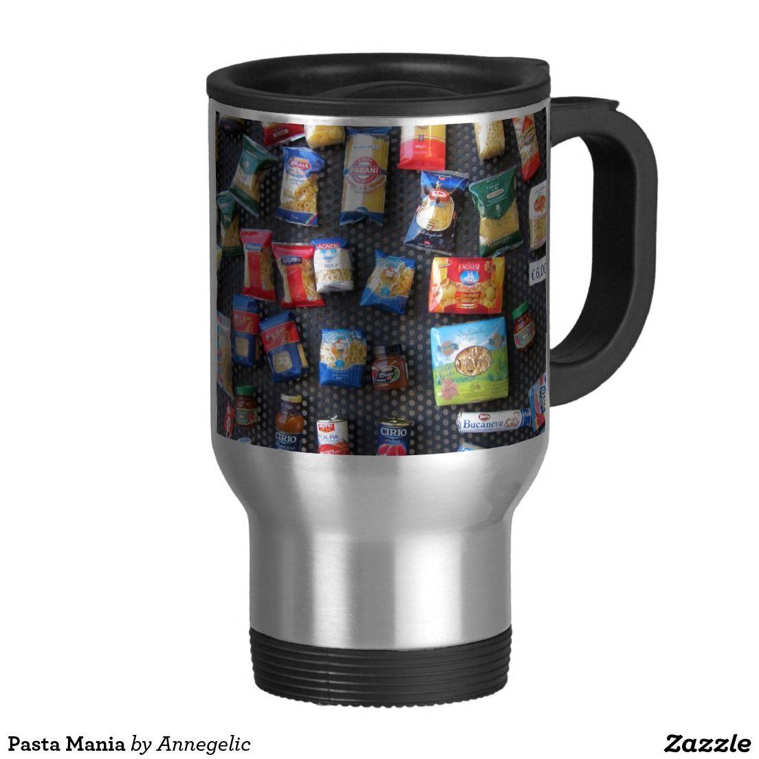 Pasta Mania 15 Oz Stainless Steel Travel Mug