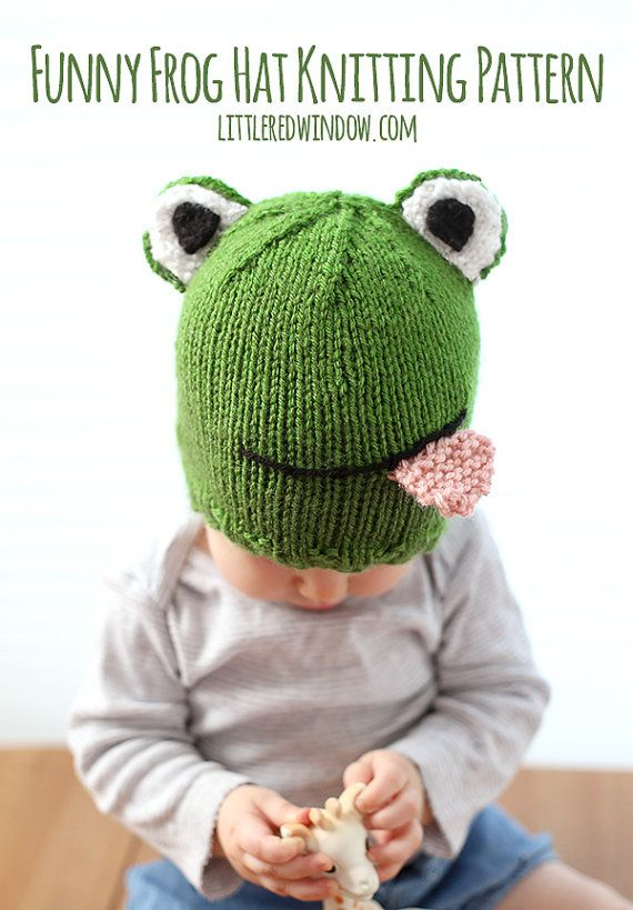 Baby Frog Hat KNITTING PATTERN / Frog Hat Pattern / Knit Frog Baby ...