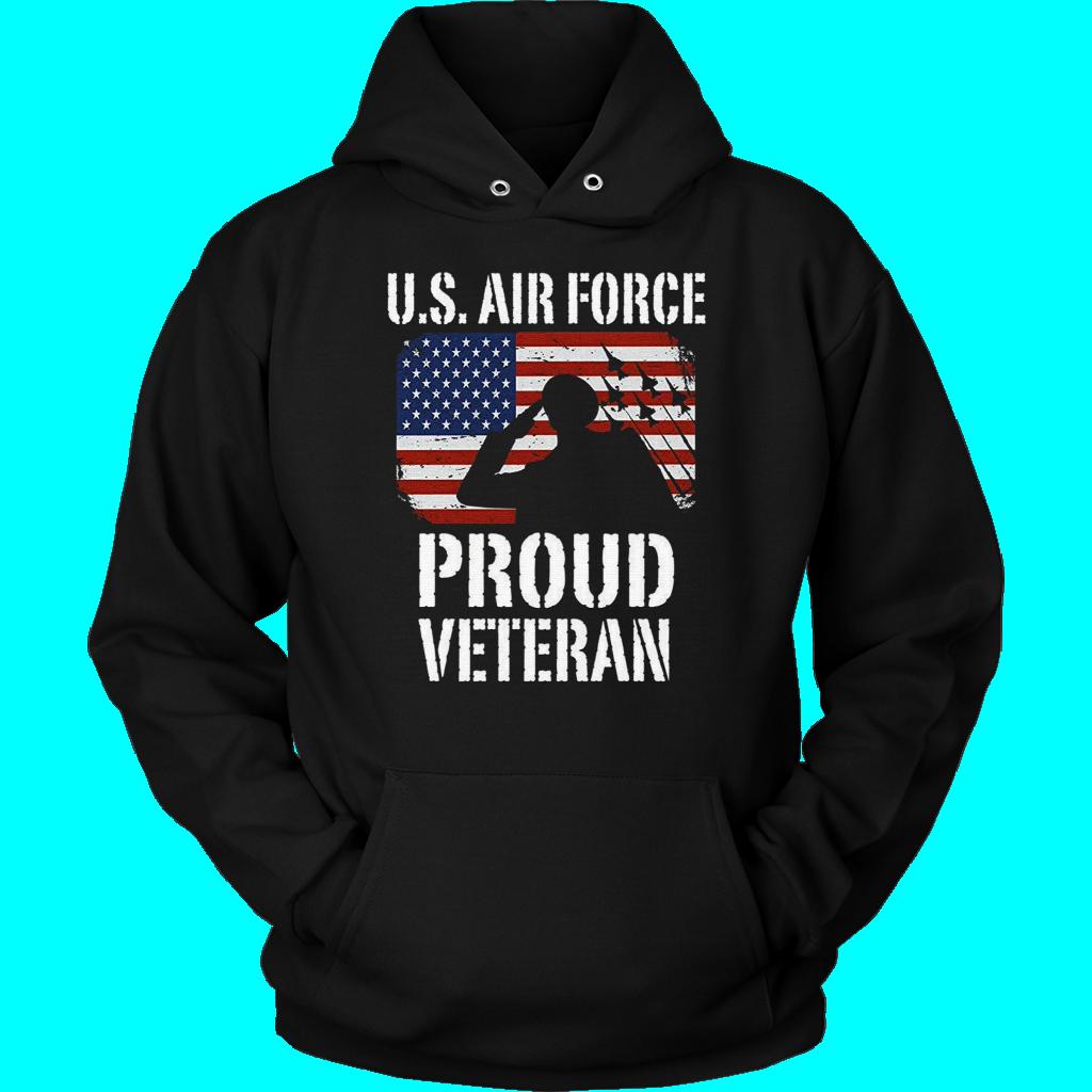 U.S. Air Force Proud Veteran USAF Long Sleeve TShirt