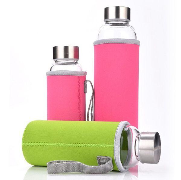 1PC Neoprene Water Bottle Sleeve Insulated Glass Drink Bottle Cover Portable