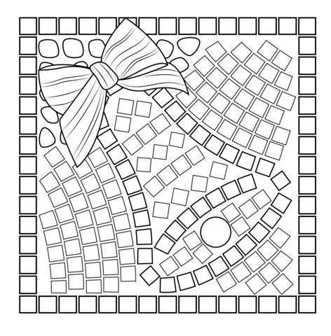 Christmas Bell Mosaic Coloring Page Christmas Mosaics Free Mosaic Patterns Coloring Pages