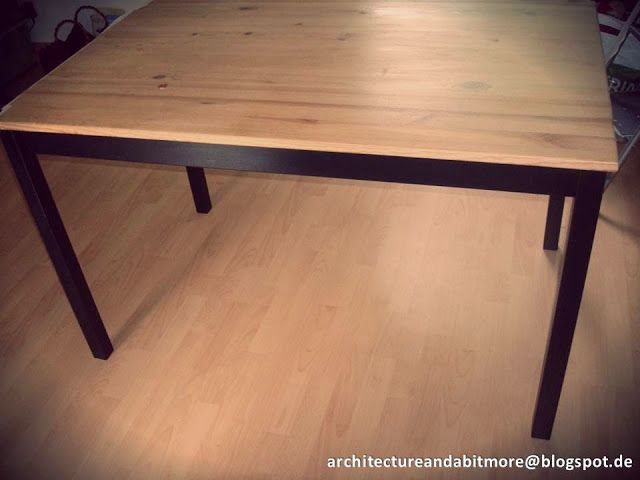 Industrial dining table from a simple IKEA table   IKEA HackersIndustrial dining table from a simple IKEA table   IKEA Hackers  . Dining Table Ikea Hack. Home Design Ideas