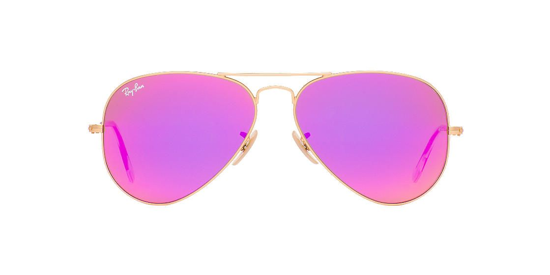 ... Óculos De Sol Ray Ban e muito mais! RAY-BAN Gold RB3025 58 ORIGINAL  AVIATOR Purple lenses 58mm 55203f757b