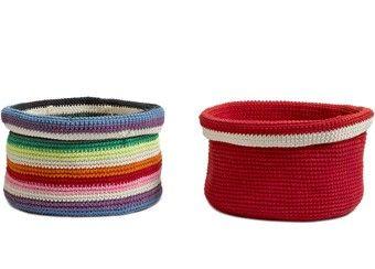 kleurrijk mandje crochet Anne-Claire Petit | kinderen-shop Kleine Zebra