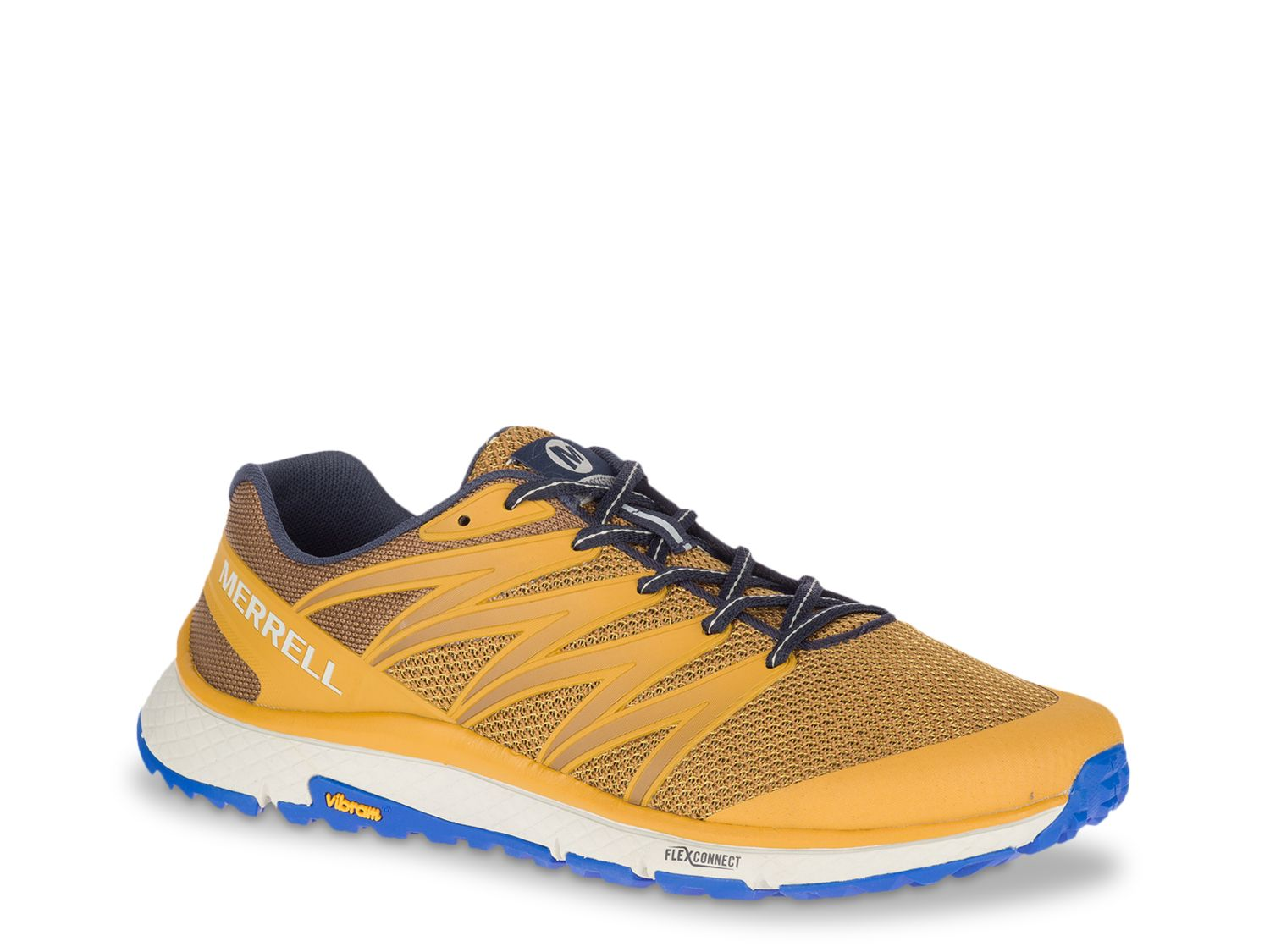 Merrell-Bare Access XTR Trail Shoe - Men's Make every run memorable with the Bare Access XTR trail running shoe from Merrell. Featuring Barefoot 2 construction with TPU film heel counter, this sneaker has FLEXconnect® dual-directional flex-grooves and Vibram® Tc5+ grippy lug sole.